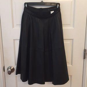 Zara faux leather black skirt, sz xs